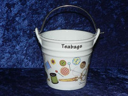 Sewing Teabag tidy bucket used teabag holder shaped used teabag pot, perfect for a good quantity