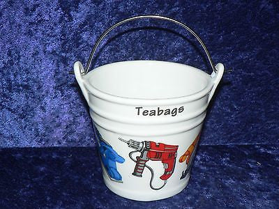 Power Tools Teabag tidy.Bucket used teabag holder  shaped used teabag pot Drill, Saw, driver, plane