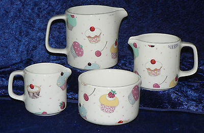 Cupcake chintz milk jugs, choice of  3 sizes jug, or sugar pot bowl 4/7/10oz
