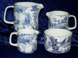 Toille de jouy chintz milk jugs, choice 3 sizes jug, or sugar pot bowl 4/7/10oz