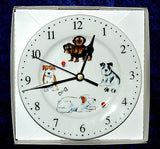Dogs wall clock porcelain wall clock with different fun dog breeds pics