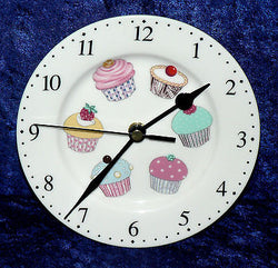 Cupcake wall clock porcelain wall clock with different cupcakes