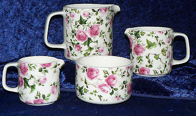 Rose & ivy chintz milk jugs, choice of  3 sizes jug, or sugar pot bowl 4/7/10oz