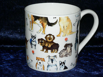Dog 1 pint bone china mug dogs CHINTZ all around mug