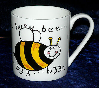 Bumble Bee 1 pint bone china mug  Fun bumble bee different on each side