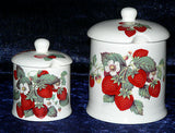 Bone China preserve jar, perfect for strawberry jam or marmalade 2 sizes to chose from