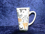 pair of Cats & kittens latte mugs gift boxed with latte spoons 3/4pt capacity