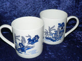 Blue Willow Pint mugs Set of 2 gift boxed 2 full pint sized mugs gift boxed