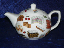 Cakes pattern 2 cup or 6 cup porcelain teapot baking desgn many different cakes