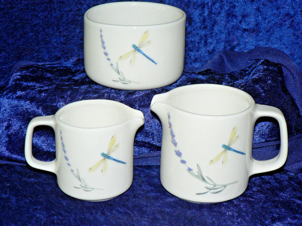 Lavender & dragonfly,  milk jug  (choice of 2 sizes) or open sugar bowl