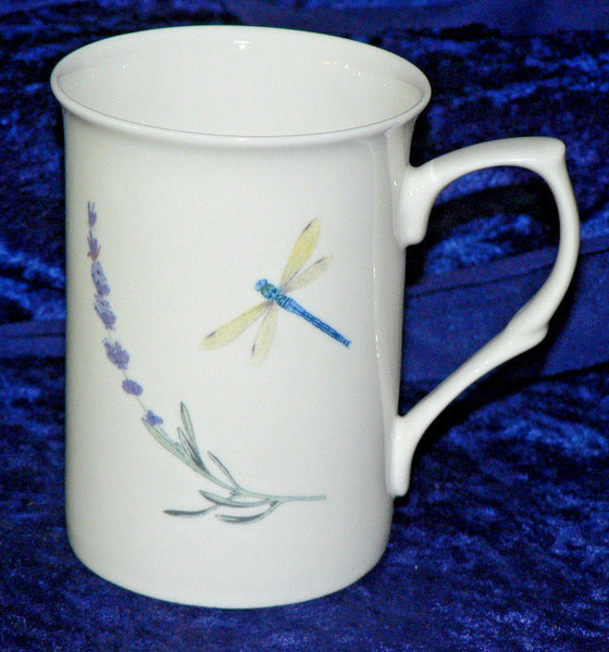Lavender & dragonfly bone china mug - 1 - 6  to choose from drop down menu