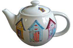 One cup teapot Beach hut design, holds just 1 cup of tea perfect for one person