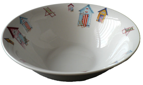 Beach Huts pattern design 22cm ceramic salad bowl