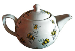 Bees pattern 2 cup porcelain teapot