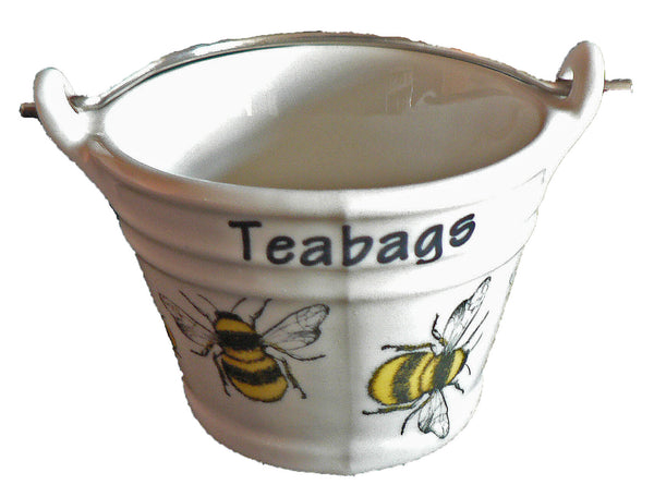 Bumble bees teabag tidy Bucket, small bucket