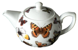 Butterfly pattern 2 cup porcelain teapot
