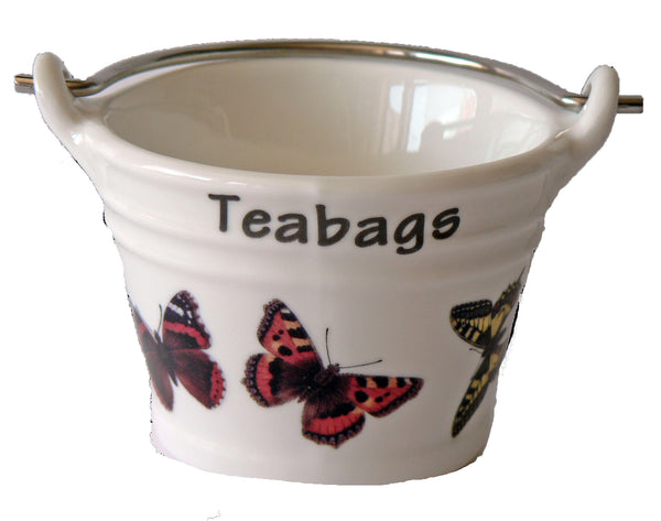 Butterfly small teabag tidy Bucket,