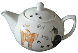 One cup teapot Cat design, holds just 1 cup of tea perfect for one person