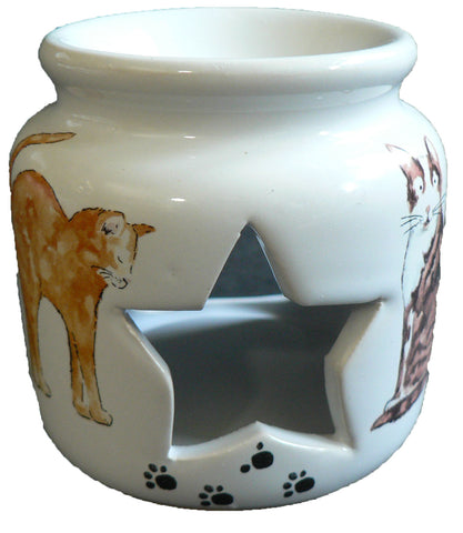 Cats and kittens China Oil Burner for wax melts,essential oils or yankee tarts.