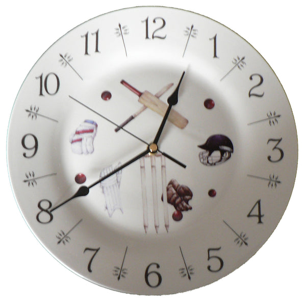 "Cricket design 10.5"" large ceramic wall clock"