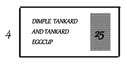 POLYSTYRENE FOR TRAY DIMPLE TANKARD & EGGCUP