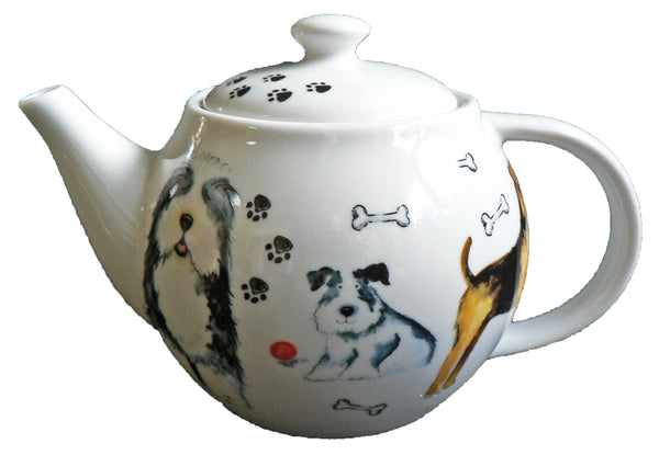 One cup teapot dog design, holds just 1 cup of tea perfect for one person