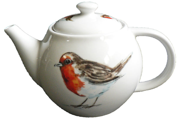 One cup teapot Birds design, holds just 1 cup of tea perfect for one person