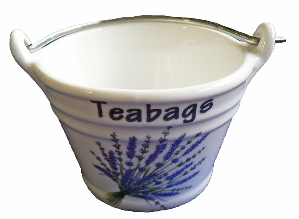 Lavender teabag tidy Bucket, small bucket