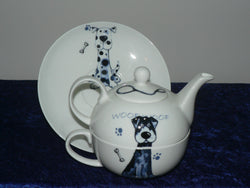 Dogs Tea for one set  -  Dogs bone china T41 set