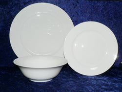 White fine bone china dinner plates  -  Choose options required from drop down menu beside photo