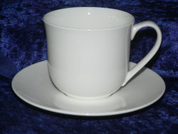 White bone china cup and saucer set