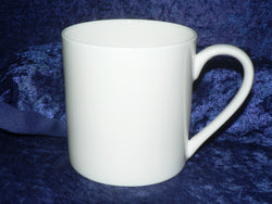1 pint bone china mug in plain white