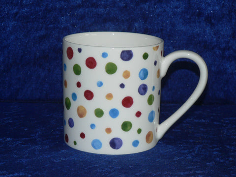 Spots 1 pint bone china mug - spots spotty CHINTZ mug also personalised option