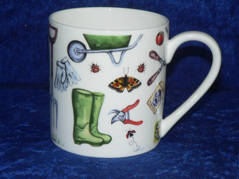 Gardening 1 pint bone china mug garden tools CHINTZ mug also personalised option