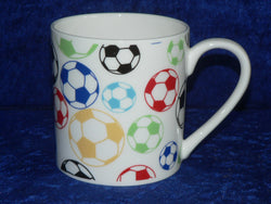 Football 1 pint bone china mug football CHINTZ mug also personalised option