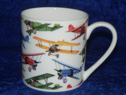 Bi-plane aircraft 1 pint bone china mug - CHINTZ mug also personalised option