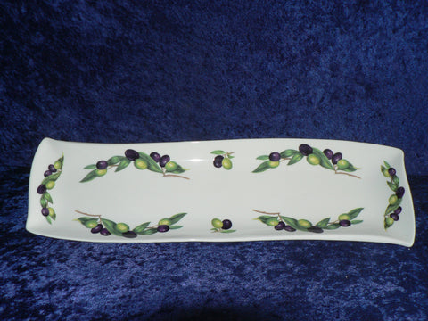 Olives ceramic tapas tray long flat tray perfect for tapas/french bread nibbles