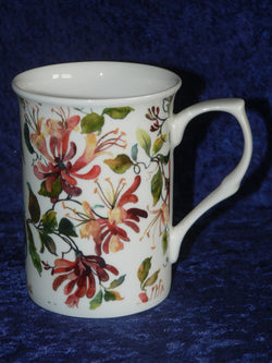 Honeysuckle floral bone china mug