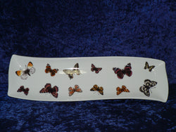 Butterfly design porcelain garlic bread tray tapas dish nibbles dish snack tray