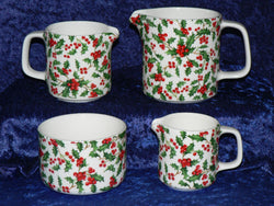 Christmas Holly Jugs Choice of 3 sizes or sugar bowl, or available as gift boxed set