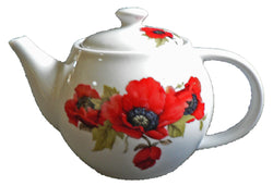 One cup teapot poppy design, holds just 1 cup of tea perfect for one person