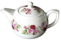 Rose pattern 2 cup porcelain teapot
