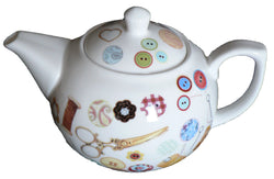 Sewing pattern 2 cup porcelain teapot