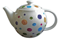 One cup teapot spots design, holds just 1 cup of tea perfect for one person