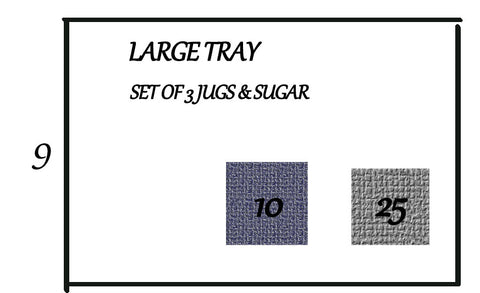 POLYSTYRENE FOR TRAY JUGS SET OF 3 & SUGAR