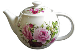 One cup teapot rose design, holds just 1 cup of tea perfect for one person