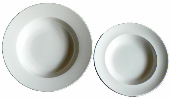 "White ceramic pasta bowl. Choice of 2 sizes 23cm/8.5""  or 27cm/10.5"" diameter"