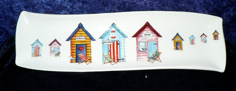 Beach huts design porcelain garlic bread tray tapas dish nibbles dish snack tray