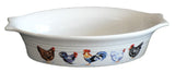 Chicken Cockerel tableware choice of 2 sizes of casserole serving dish, oval dish, ramekin