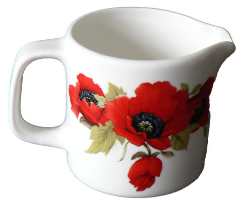 Poppy milk/cream jug large 10oz